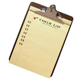 Check list clipboard